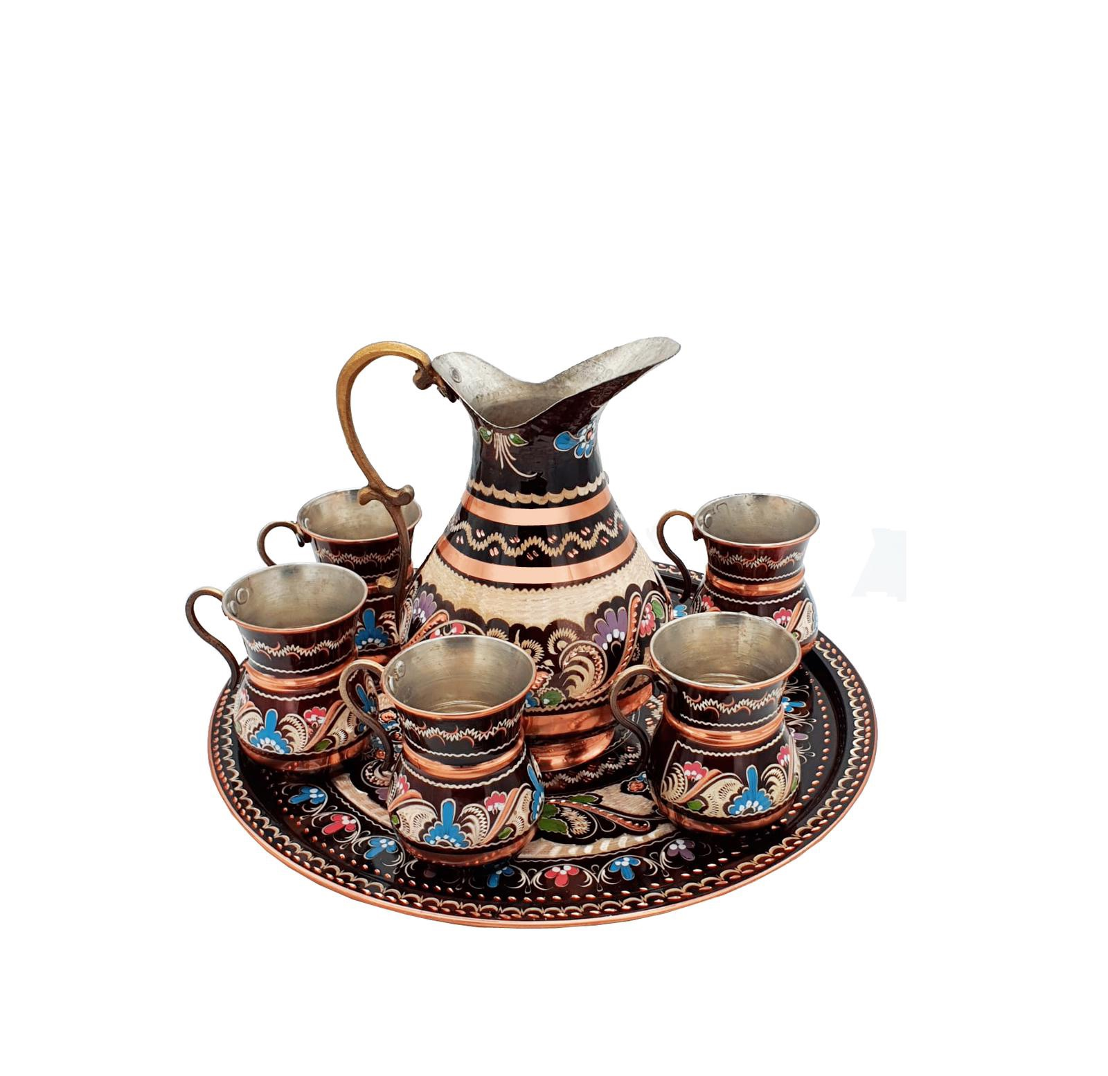 Buy Turkish Copper Jug & Cup Set