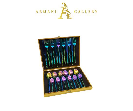 Buy Rainbow Cutlery Set - 24 Piece
