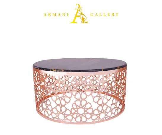 Buy Rose Gold & Marble Coffee Table