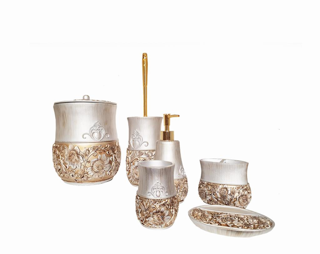 Buy Bath Set SZ8208 Silver