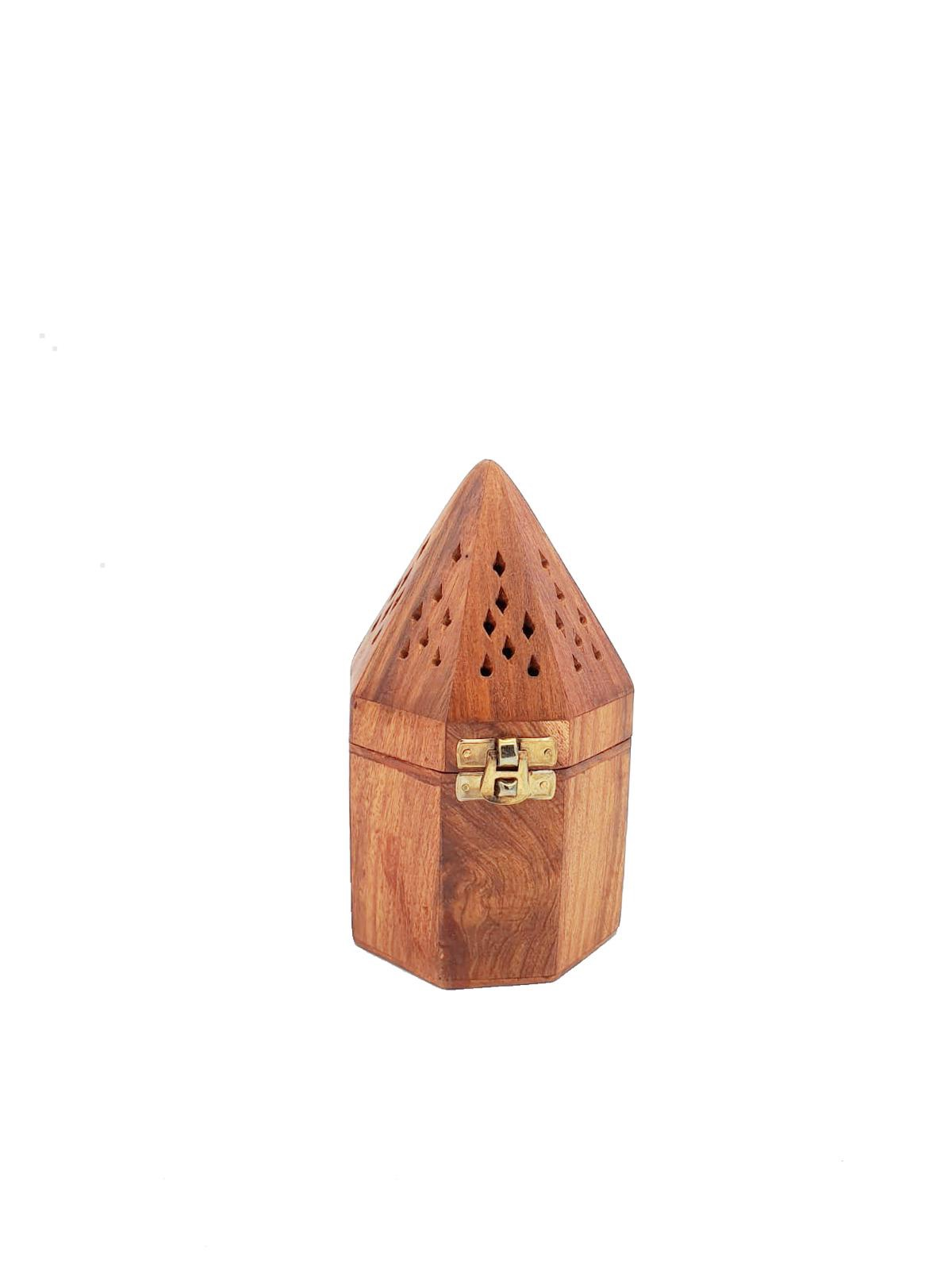 Buy Wooden Cone Incense Burner - Small
