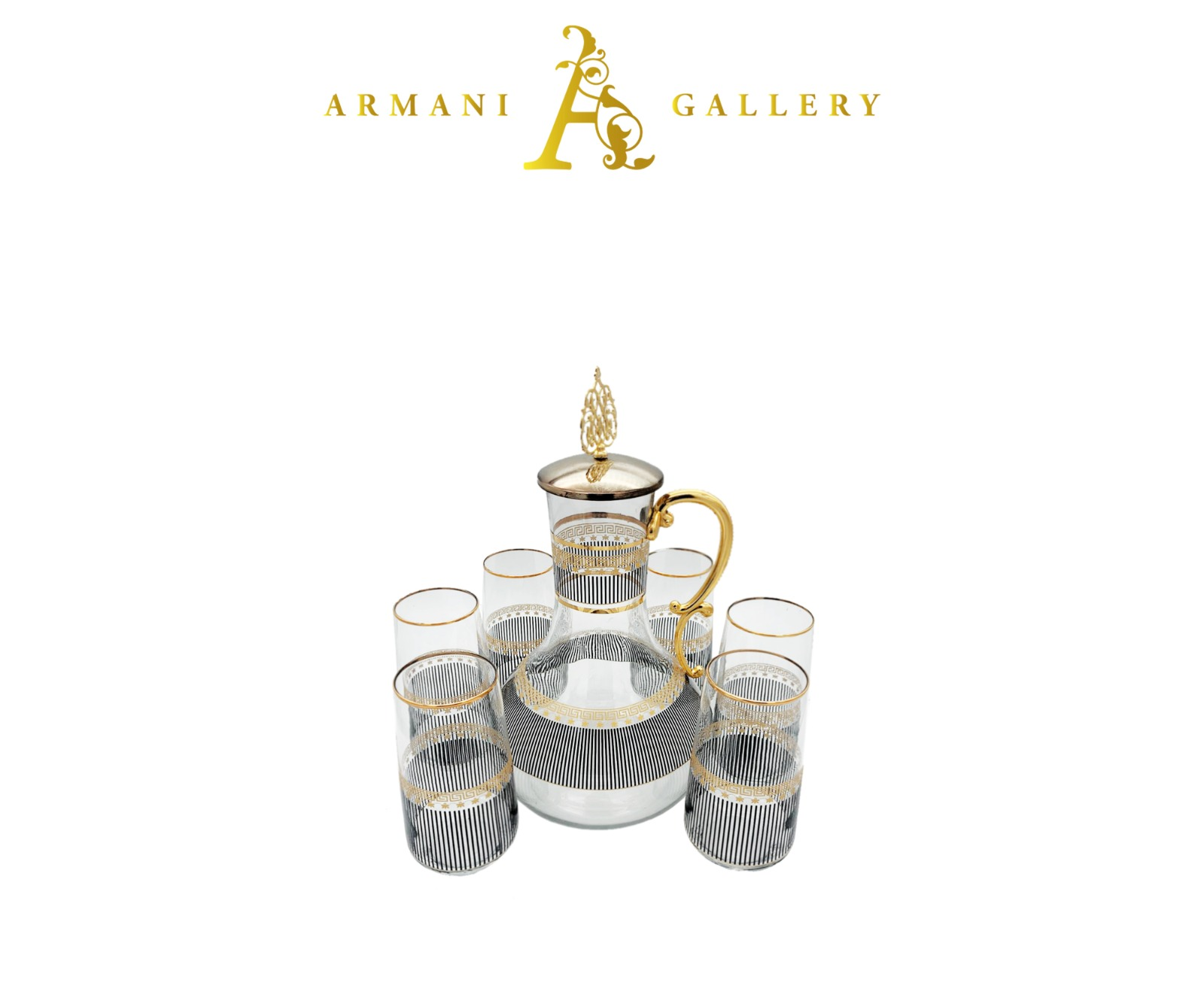 Buy Turkish 7 Piece Jug & Glass Set - 083