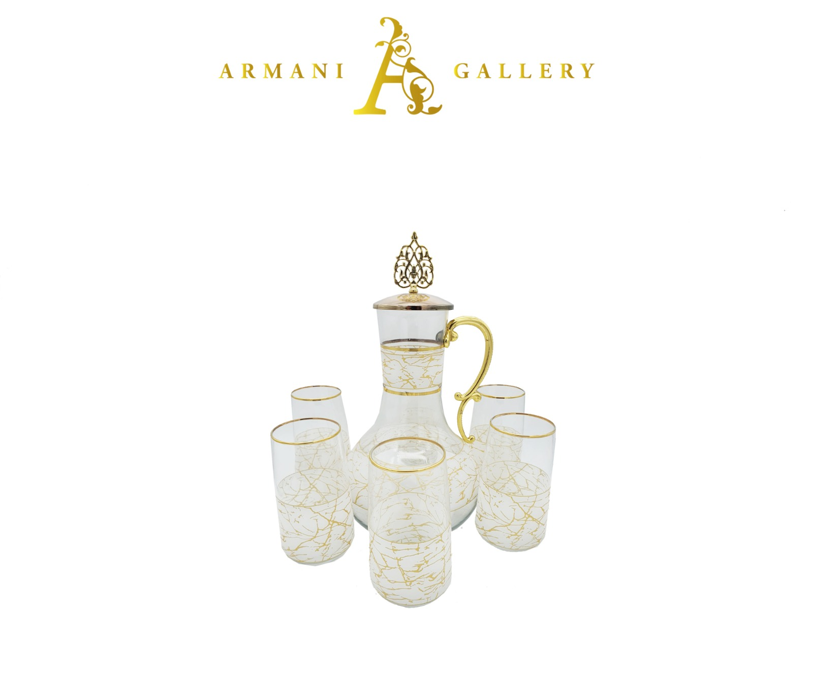 Buy Turkish 7 Piece Jug & Glass Set - 089