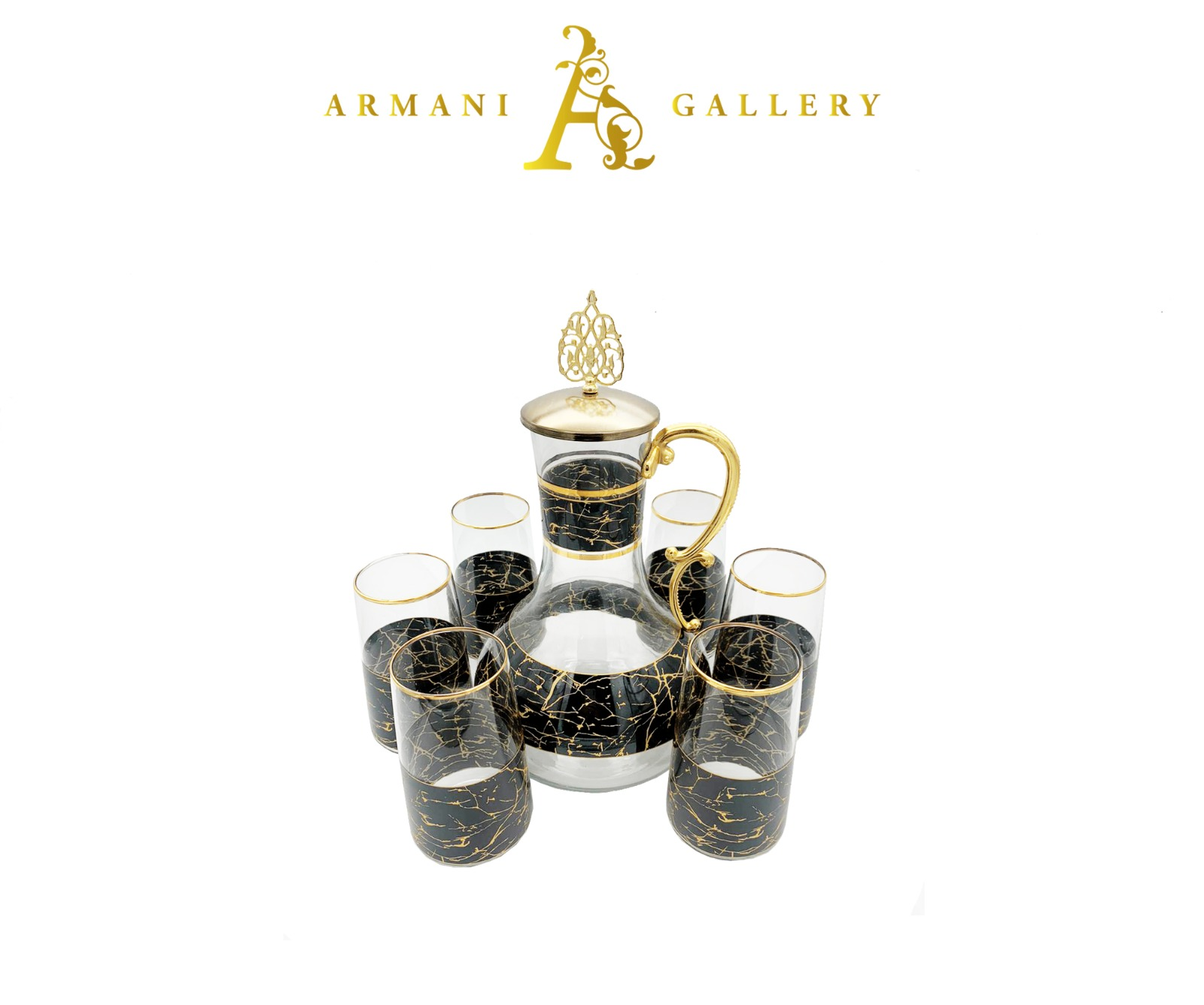 Buy Turkish 7 Piece Jug & Glass Set - 090