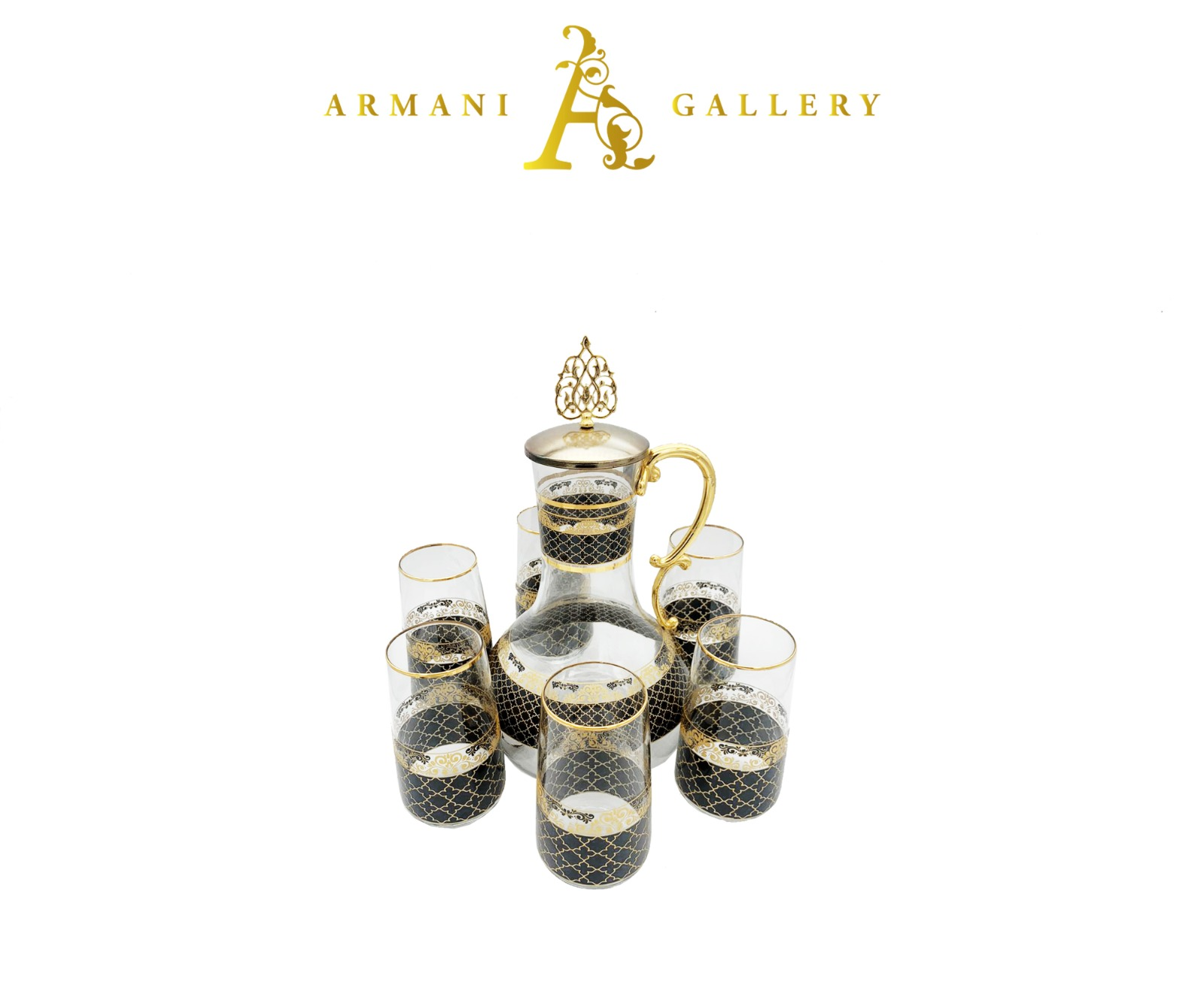 Buy Turkish 7 Piece Jug & Glass Set - 091