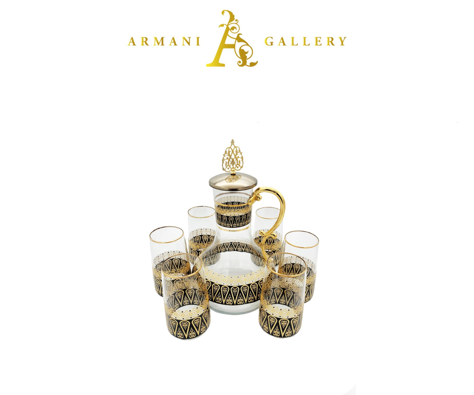 Buy Turkish 7 Piece Jug & Glass Set - 092