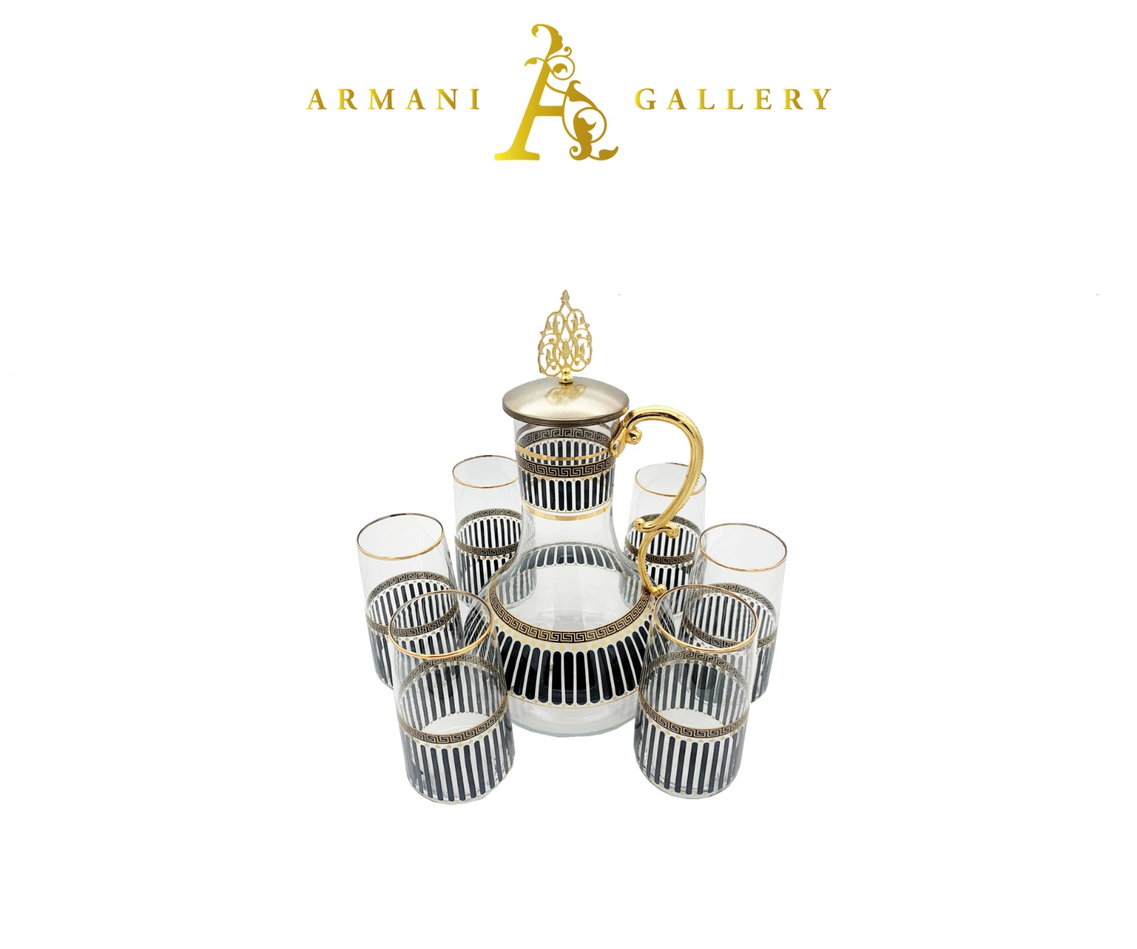 Buy Turkish 7 Piece Jug & Glass Set - 196