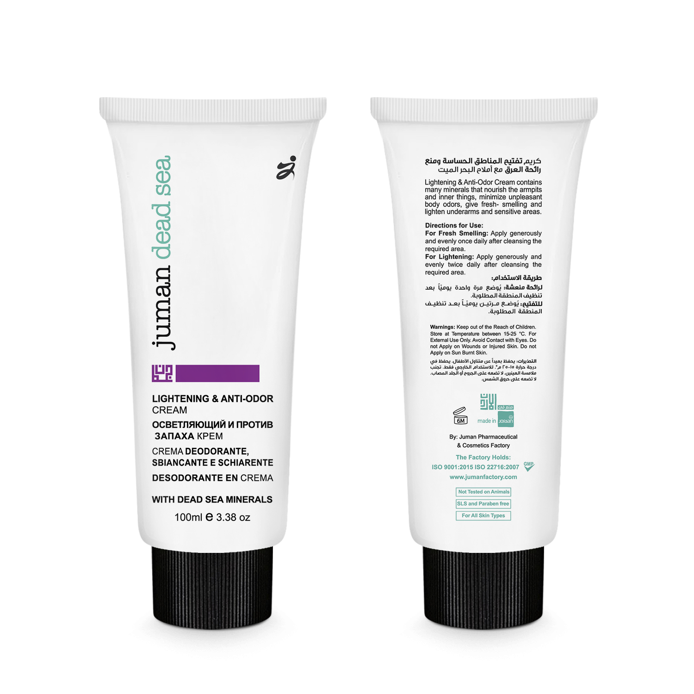 Buy Lightening & Anti-Odor Cream with Dead Sea Minerals