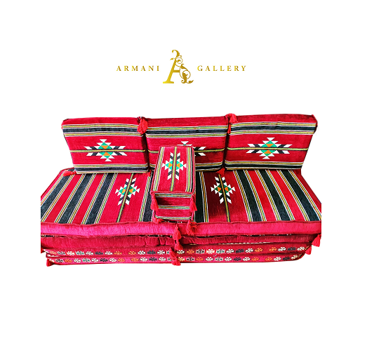 Buy Arabian Floor Lounge Set - Red
