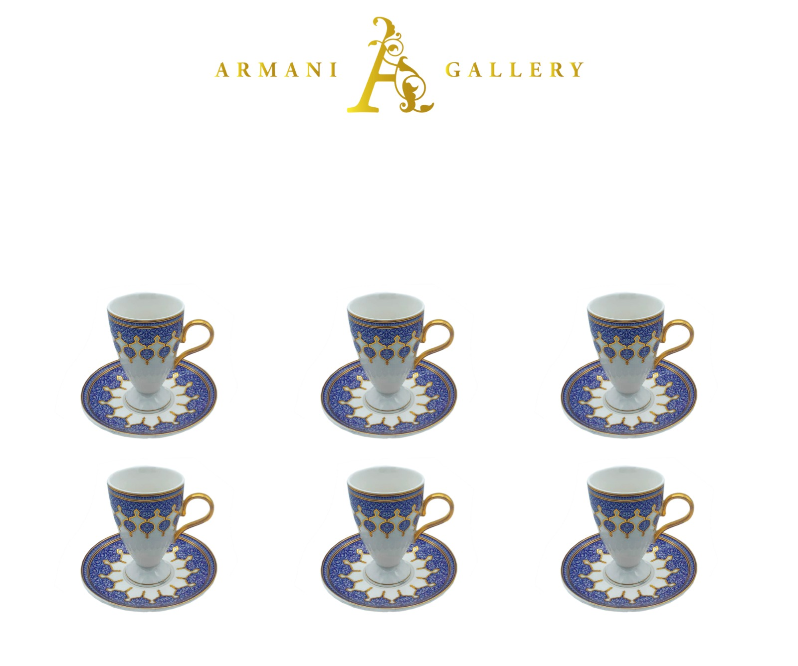 Buy Blue Moroccan Coffee Set