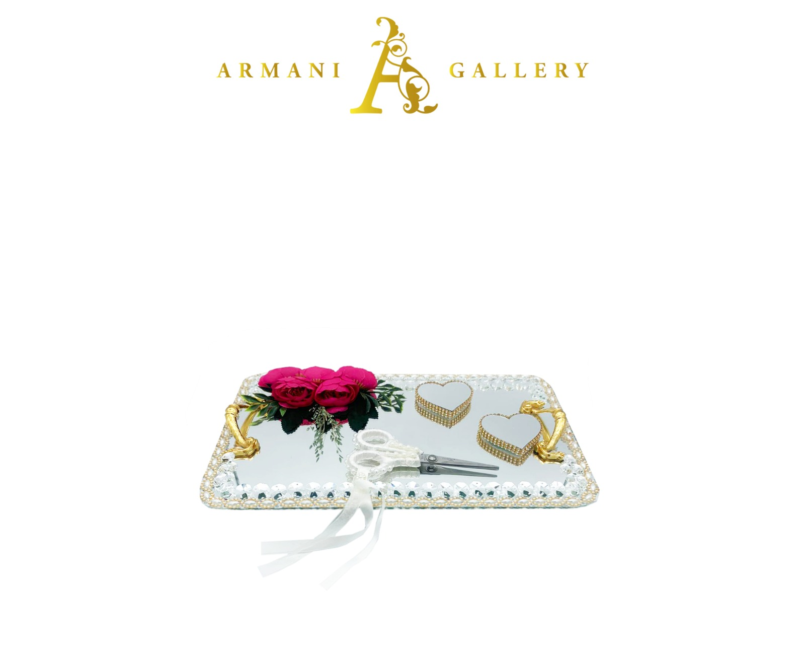 Buy Gold & Silver Engagement Tray - Rectangle