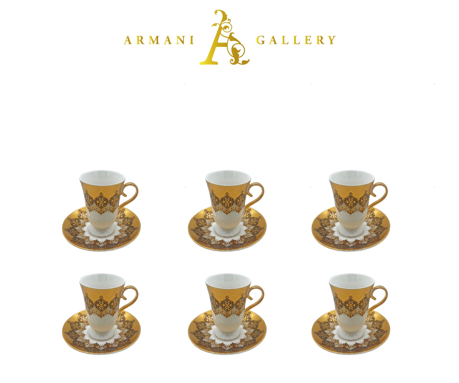 Buy Gold Moroccan Coffee Set