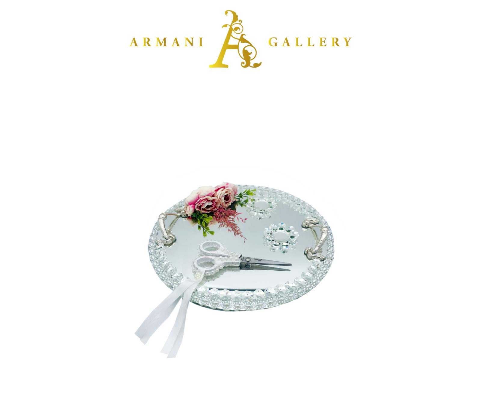 Buy Silver Engagement Tray - Round