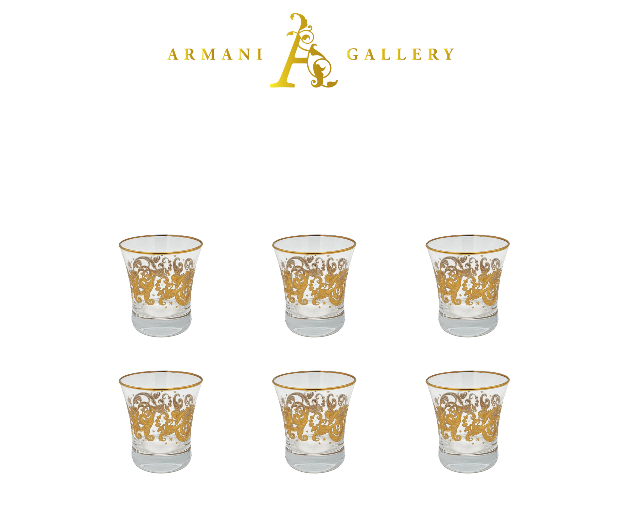 Buy Turkish Gold Floral Drinking Glass Set