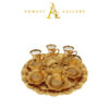 Buy Turkish Tea Cup Set with Round Tray