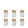 Buy Turkish Moroccan Tea Cup with Handle Set