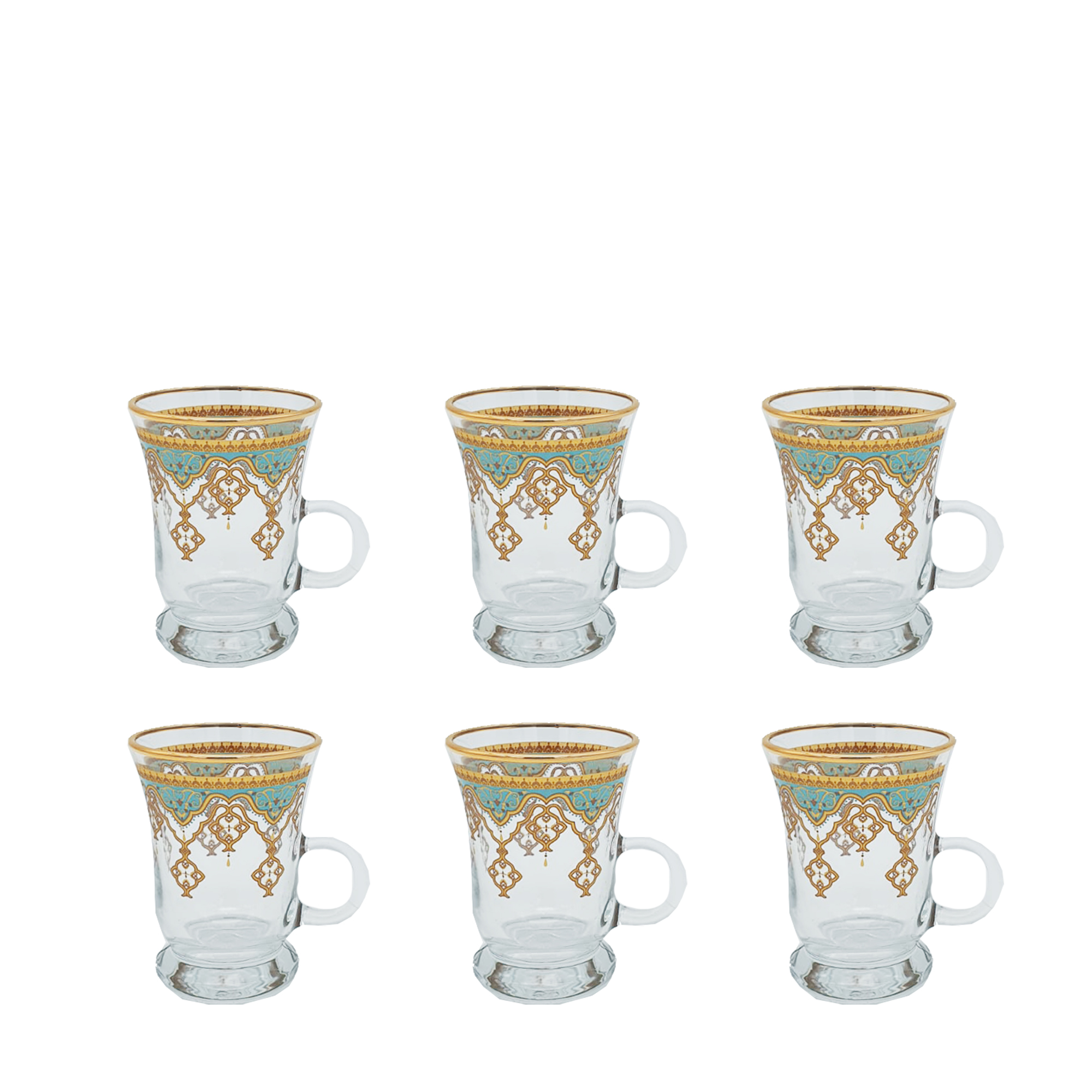 Buy Turkish Moroccan Tea Cup with Handle Set