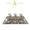 Buy Turkish Silver & Coloured Diamond Tea Cup Set