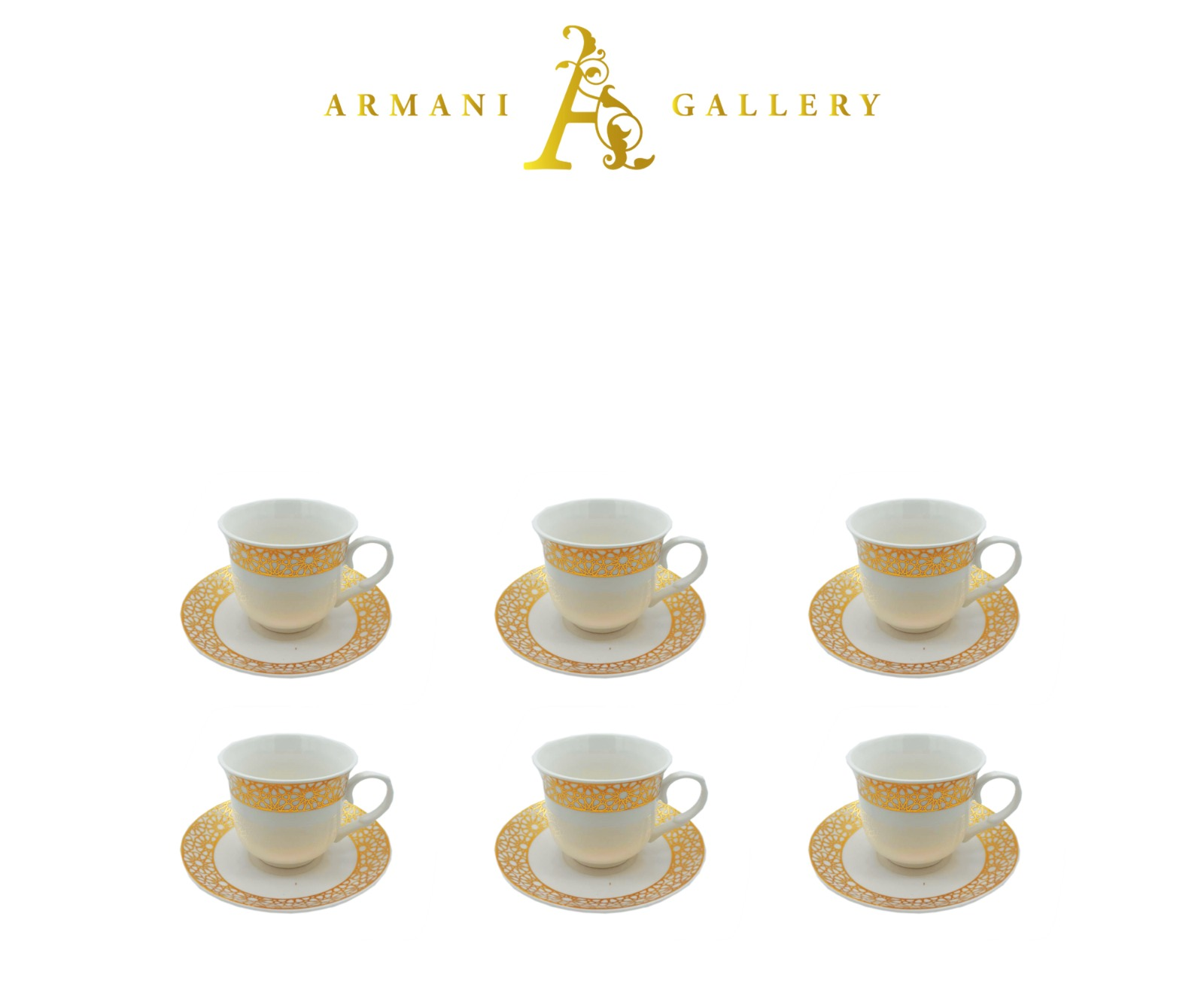 Buy White & Gold Coffee set