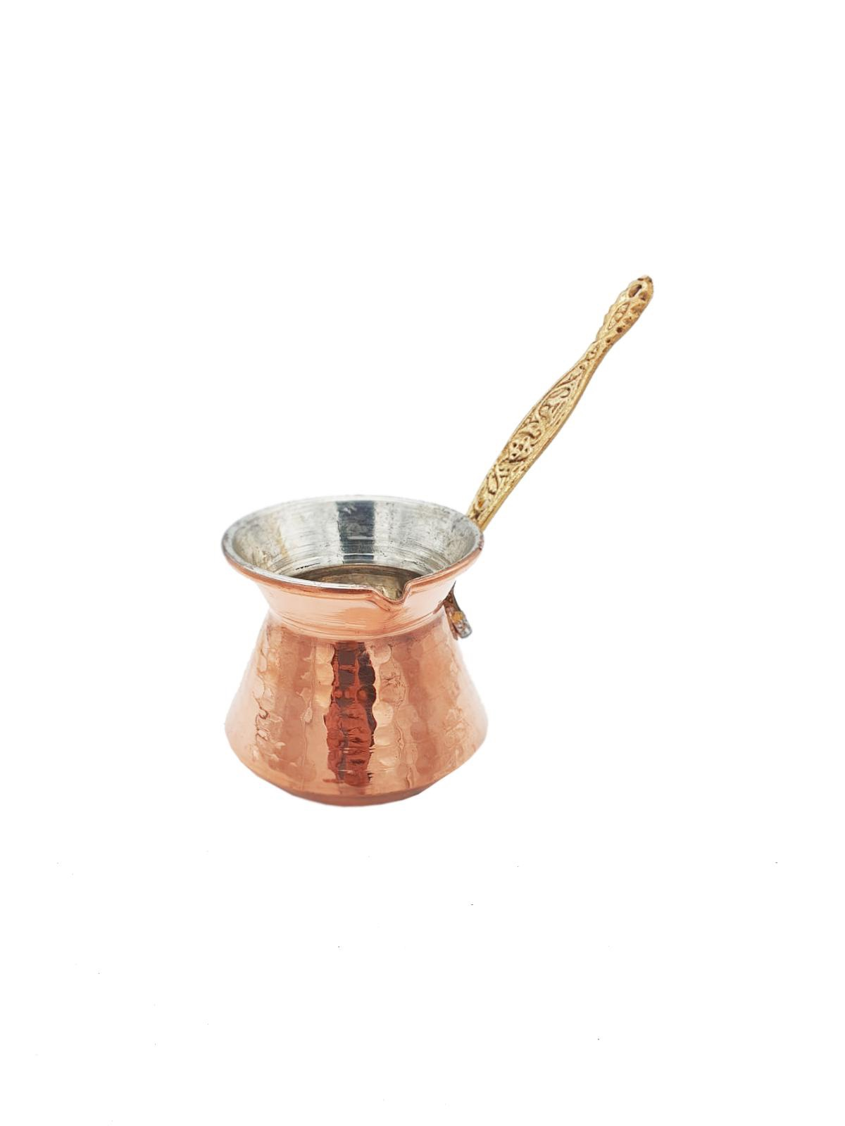 Buy Copper Coffee Pot with Gold Handle - Medium