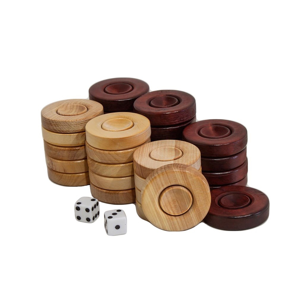 Buy Backgammon Wooden Checkers - 31mm
