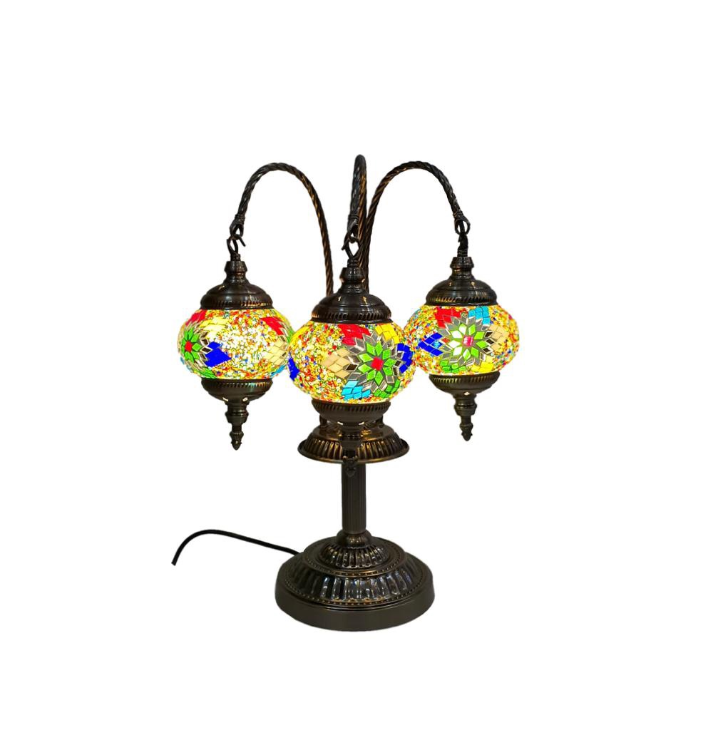 Buy Table Lamp 3 Light Mozaic Round T330