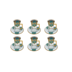 Buy Turkish Chanel Tea Cup & Saucer Set - Blue