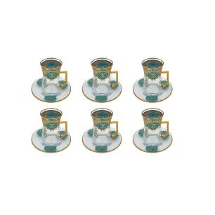 Buy Turkish Chanel Tea Cup & Saucer Set - Blue
