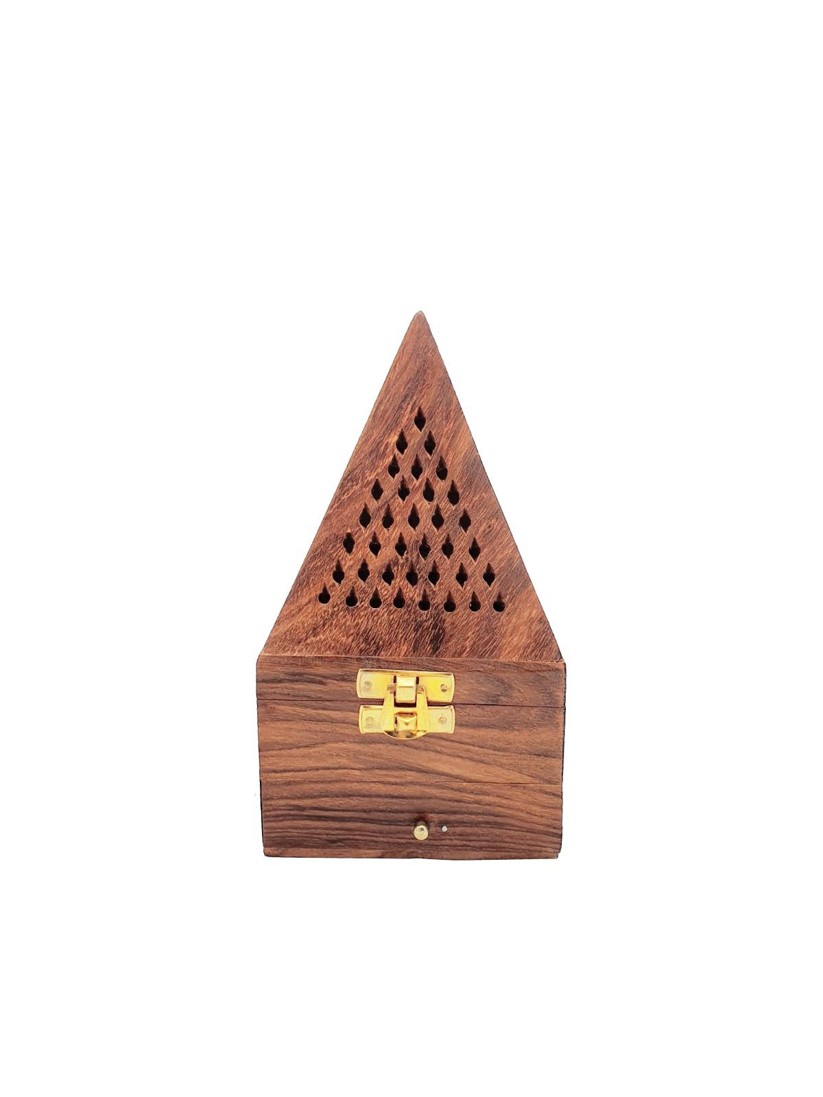 Buy Wooden Pyramid Incense Burner - Small