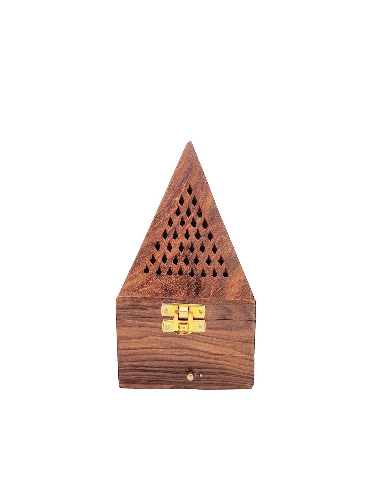 Buy Wooden Pyramid Incense Burner - Medium