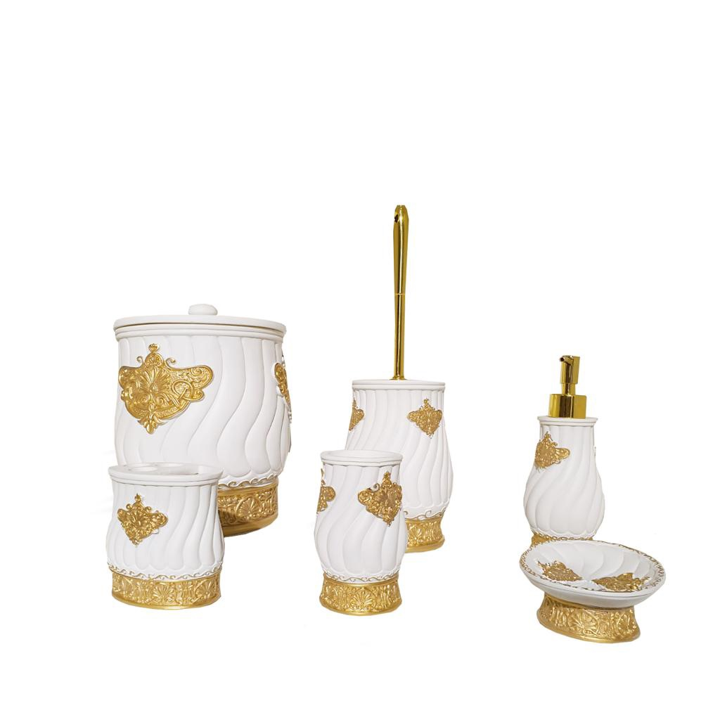 Buy Bath Set H0058 Beige & Gold
