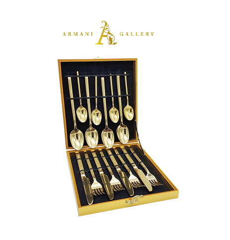 Buy Gold Cutlery Set - 16 Piece