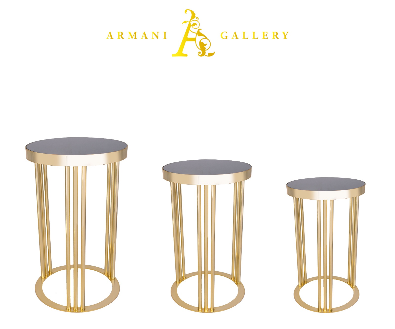 Buy Gold Mirrored Nest of Tables - Style 2