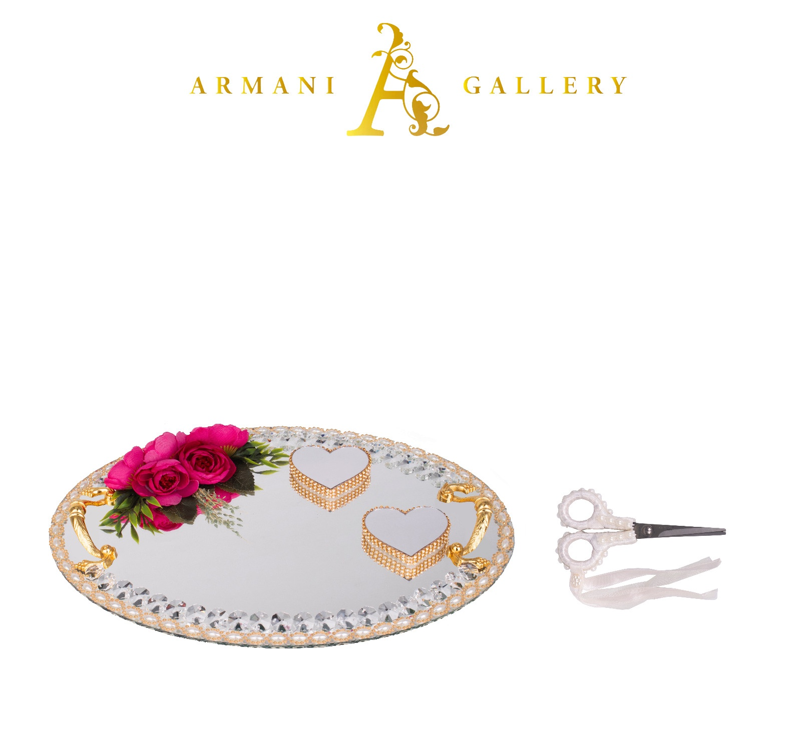 Buy Gold & Silver Engagement Tray - Oval