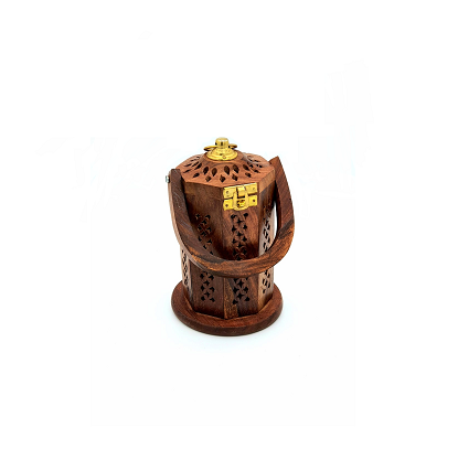 Buy Wooden Lantern Incense Burner with Handle