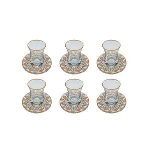 Buy Turkish Gold & Violet Tea Cup & Saucer Set