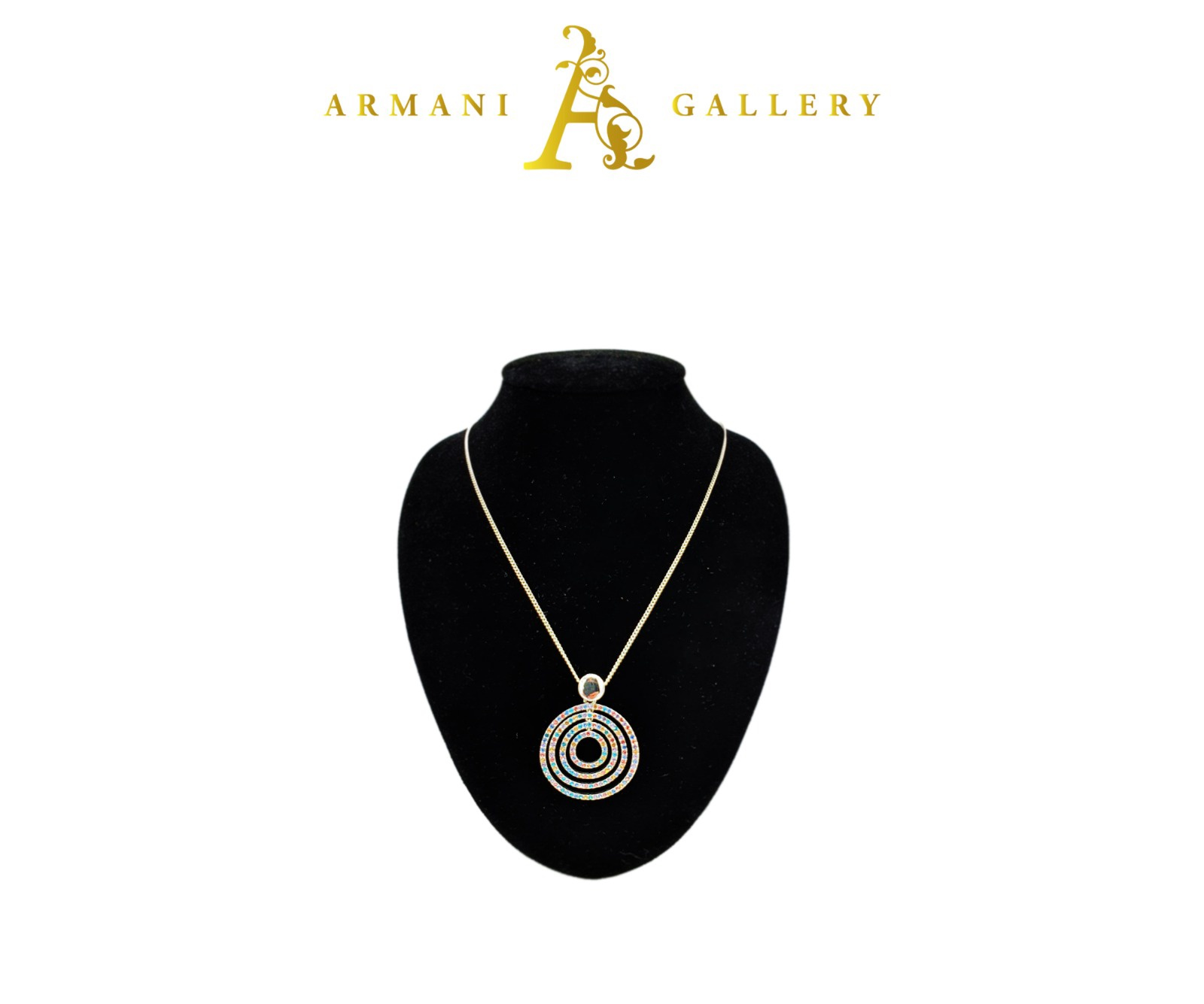 Buy Circle Swivle Necklace - Multicoloured