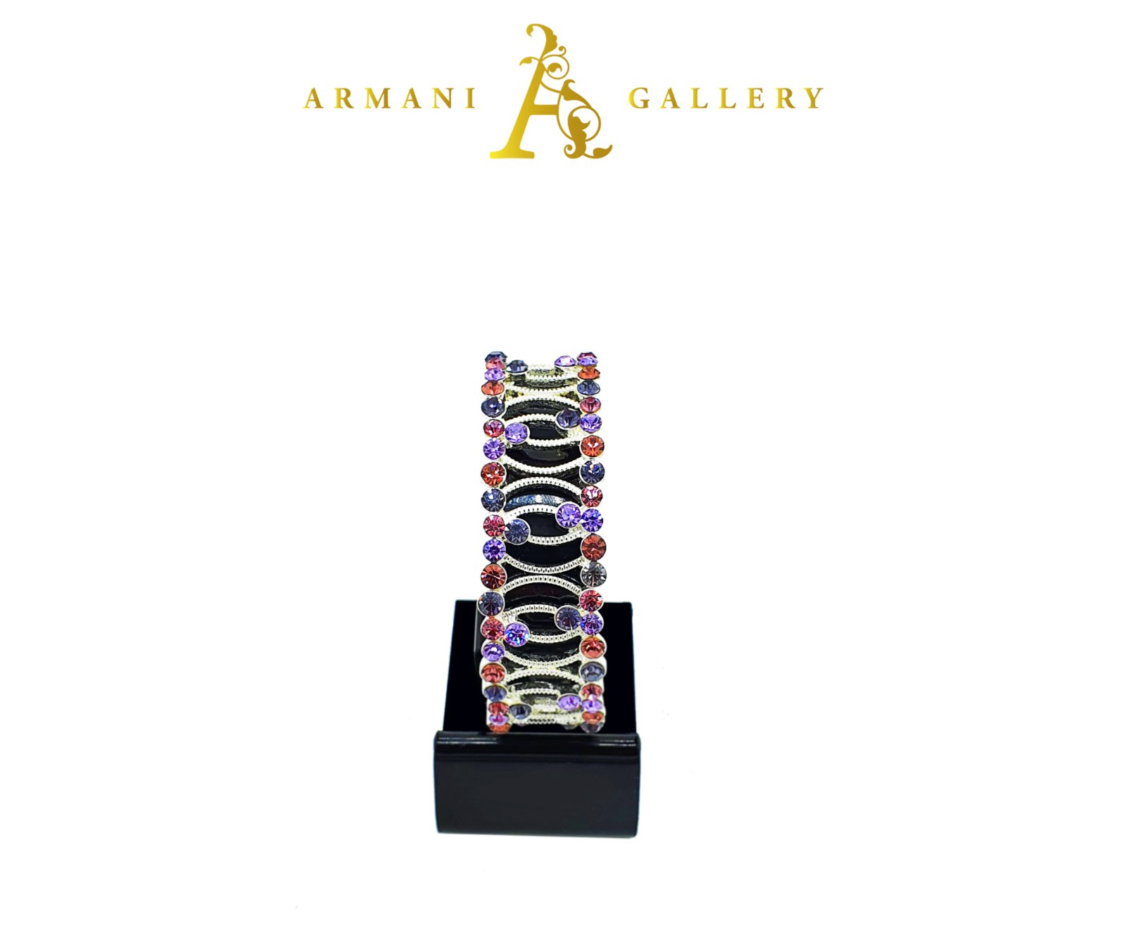Buy Diamond Swivel Bracelet - Silver, Purple & Pink