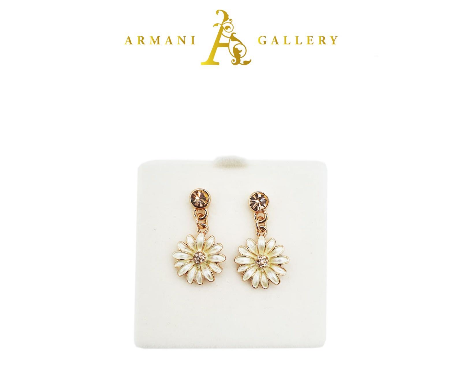 Buy Floral Earrings - Pearl White