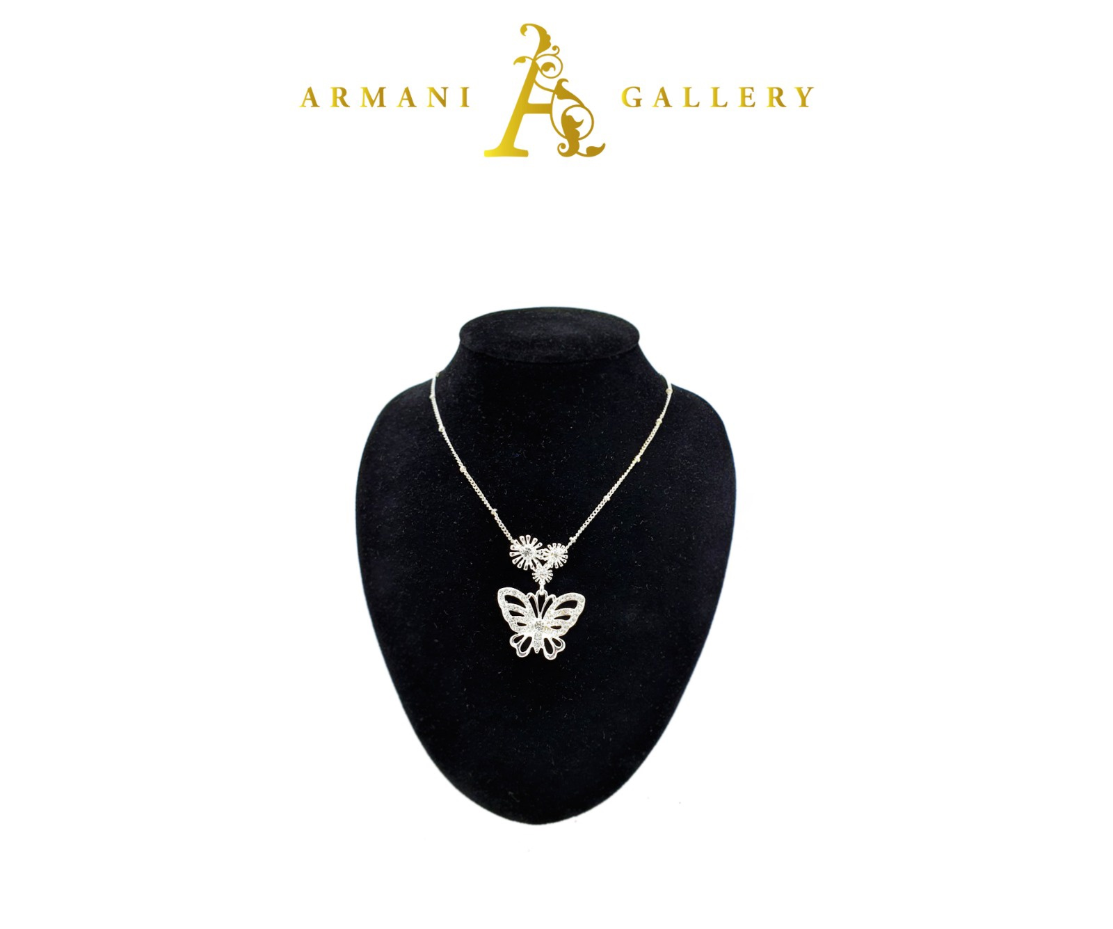 Buy Butterfly with Diamontes Necklace