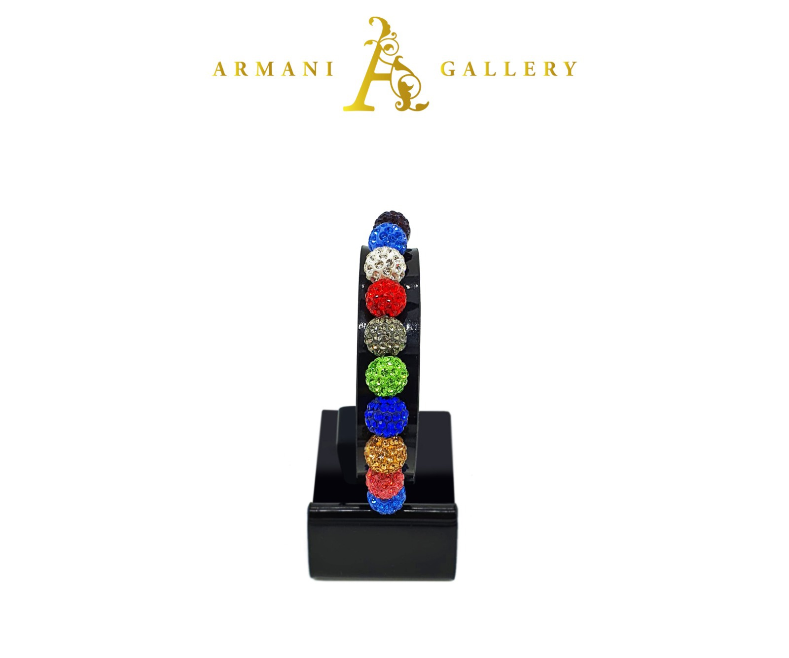 Buy Diamonte Balls Bracelet - Multicoloured
