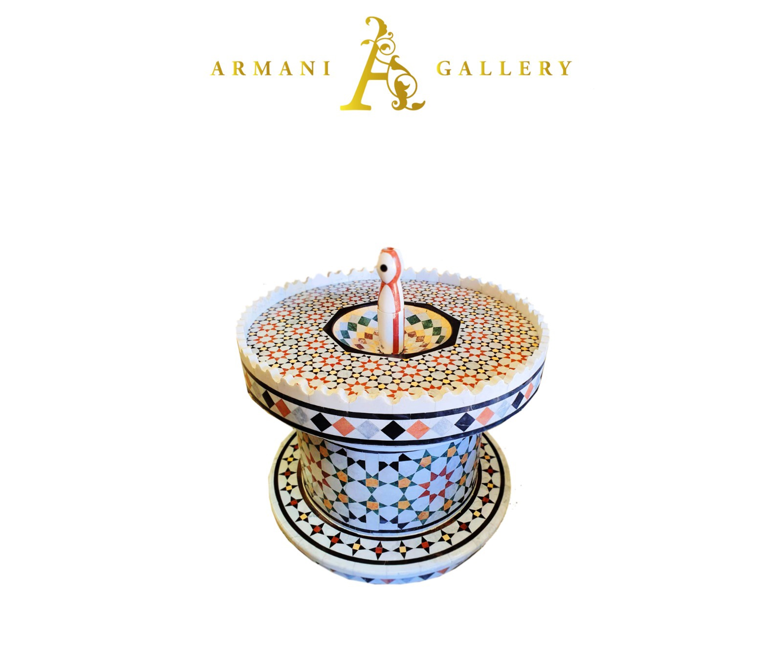 Buy Traditional Syrian Marble Round Water Fountain