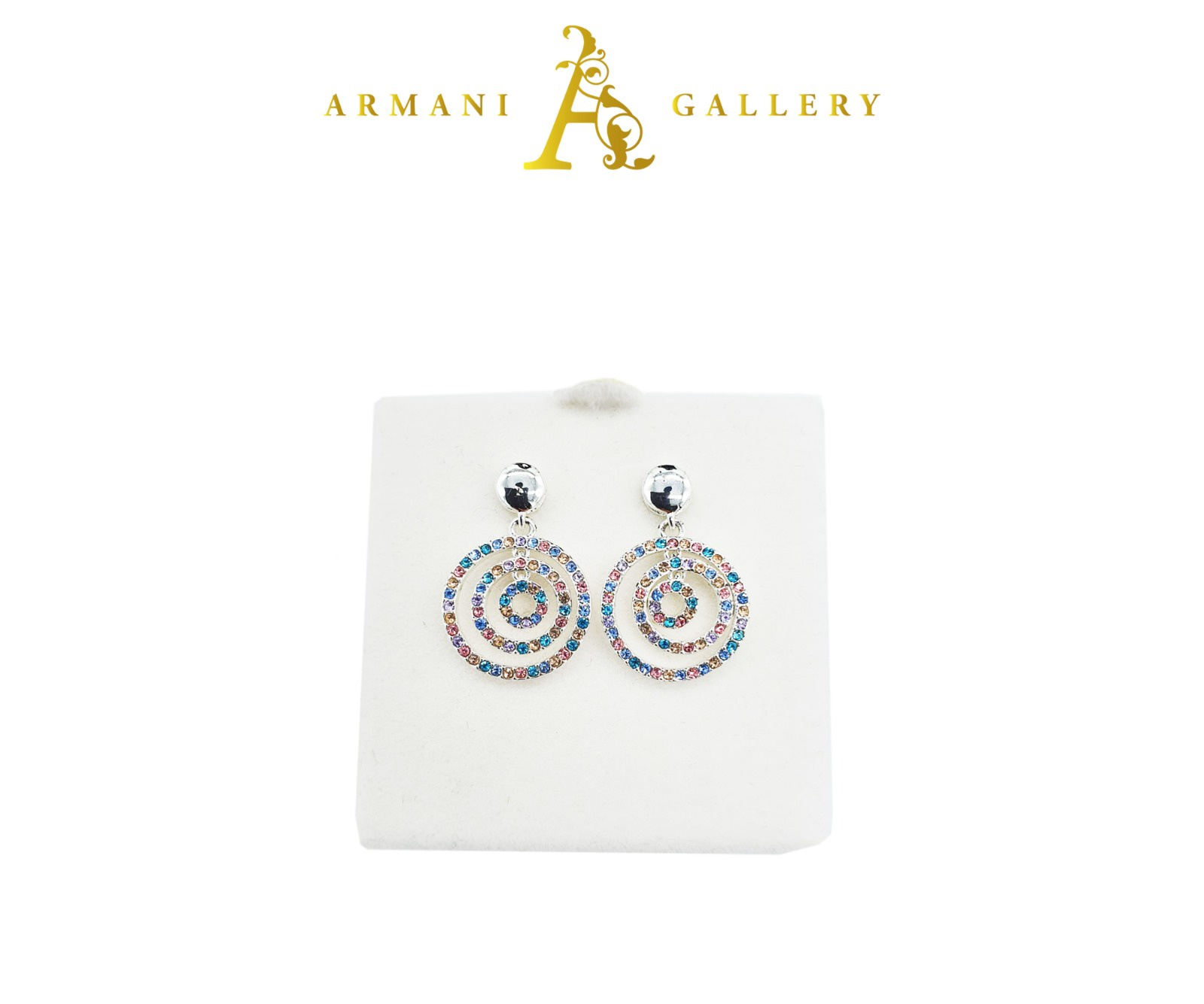 Buy Circle Swivle Earrings - Multicoloured