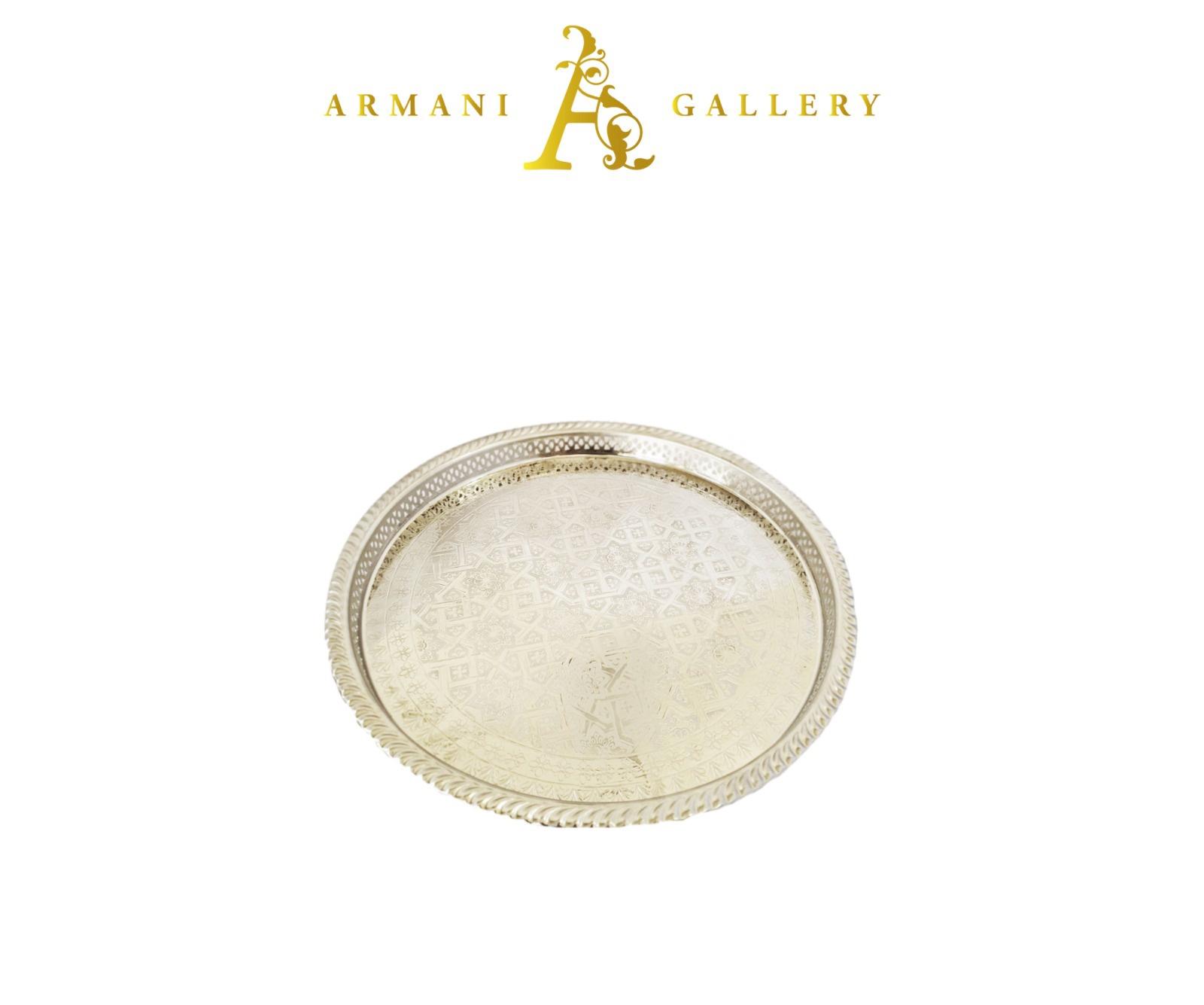 Buy Moroccan Royal Round Tray - Small