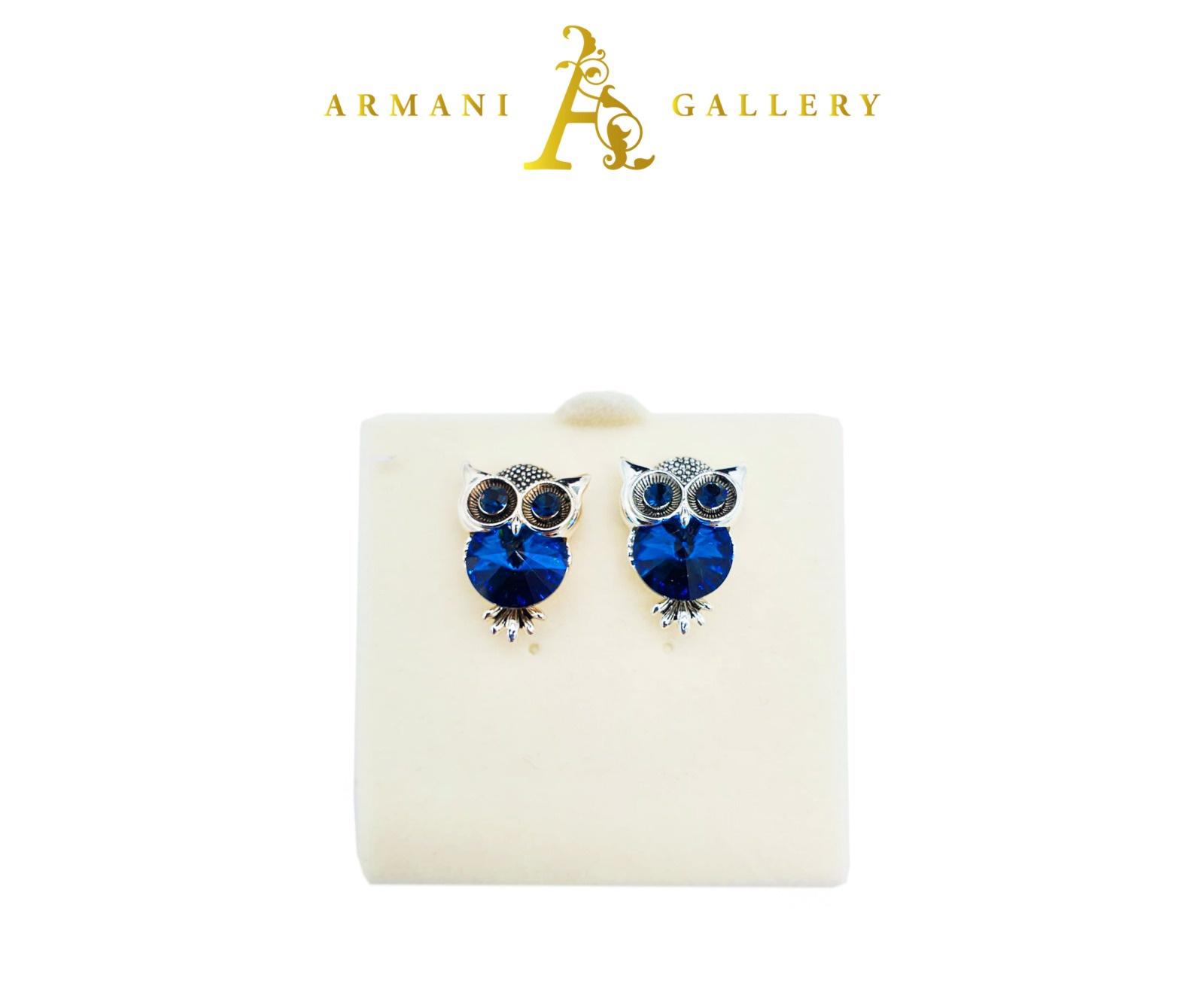 Buy Owl Earrings - Blue