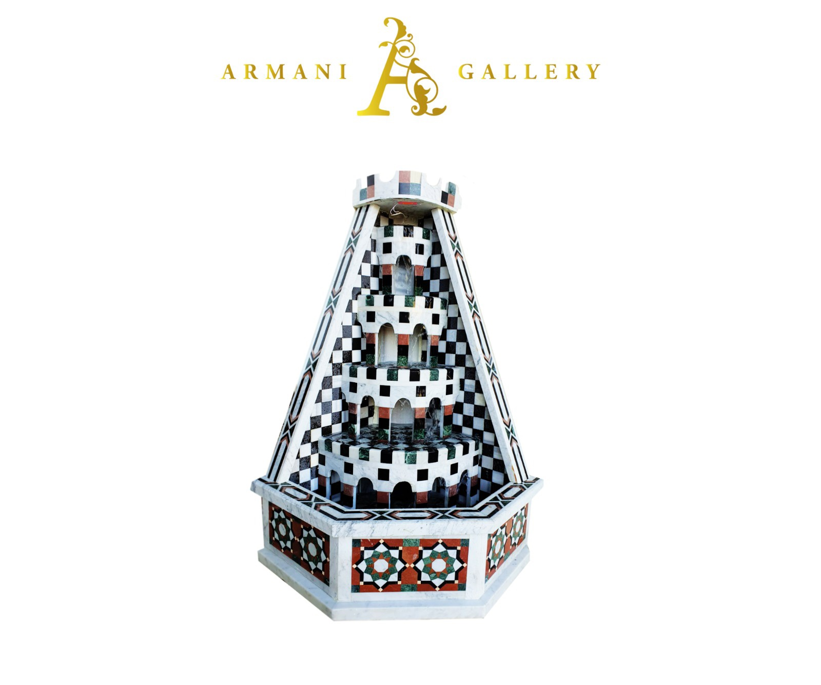 Buy Traditional Syrian Marble Corner Water Fountain