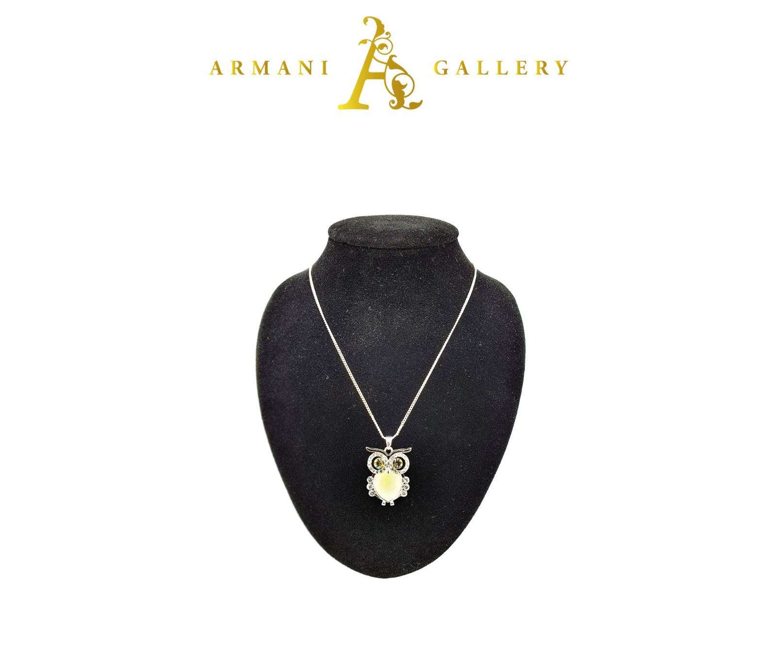 Buy Owl with Diamonds Necklace