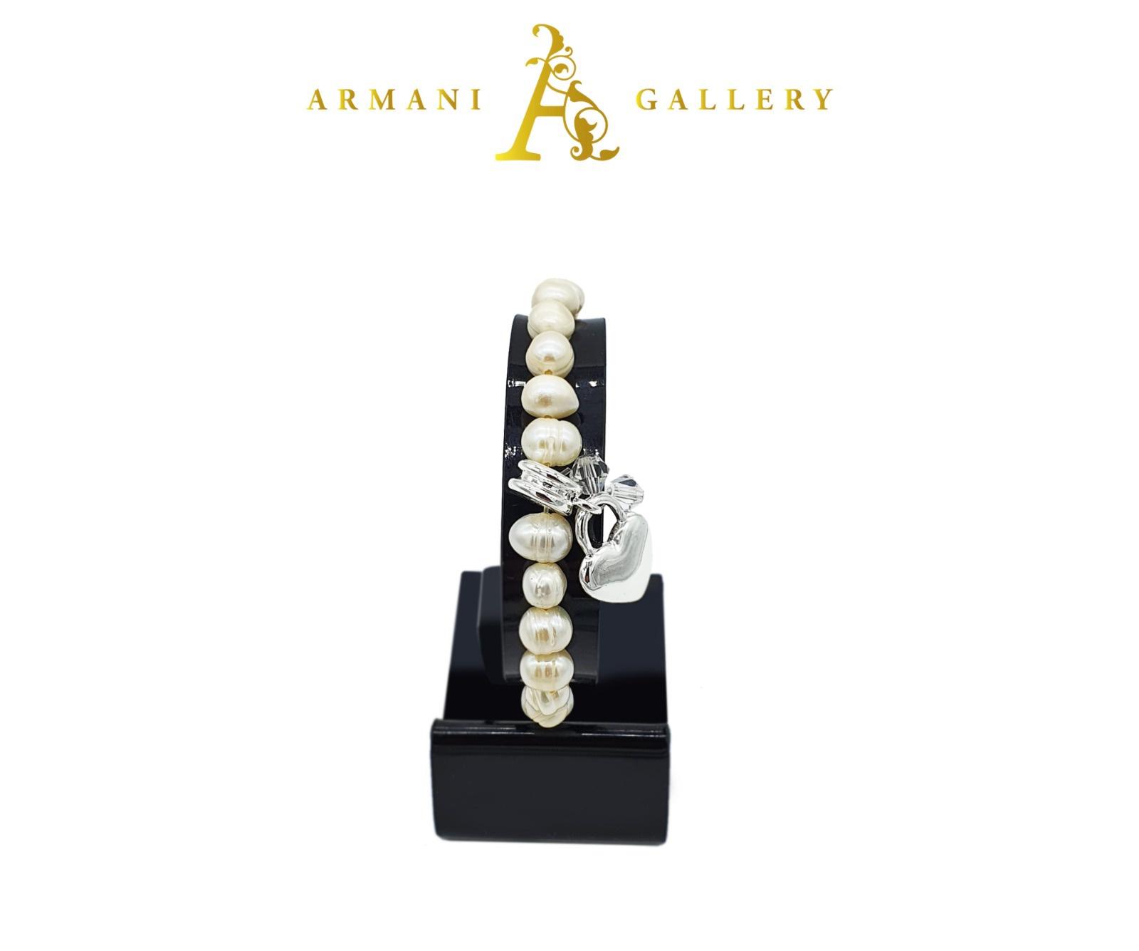 Buy Pearls & Heart Bracelet