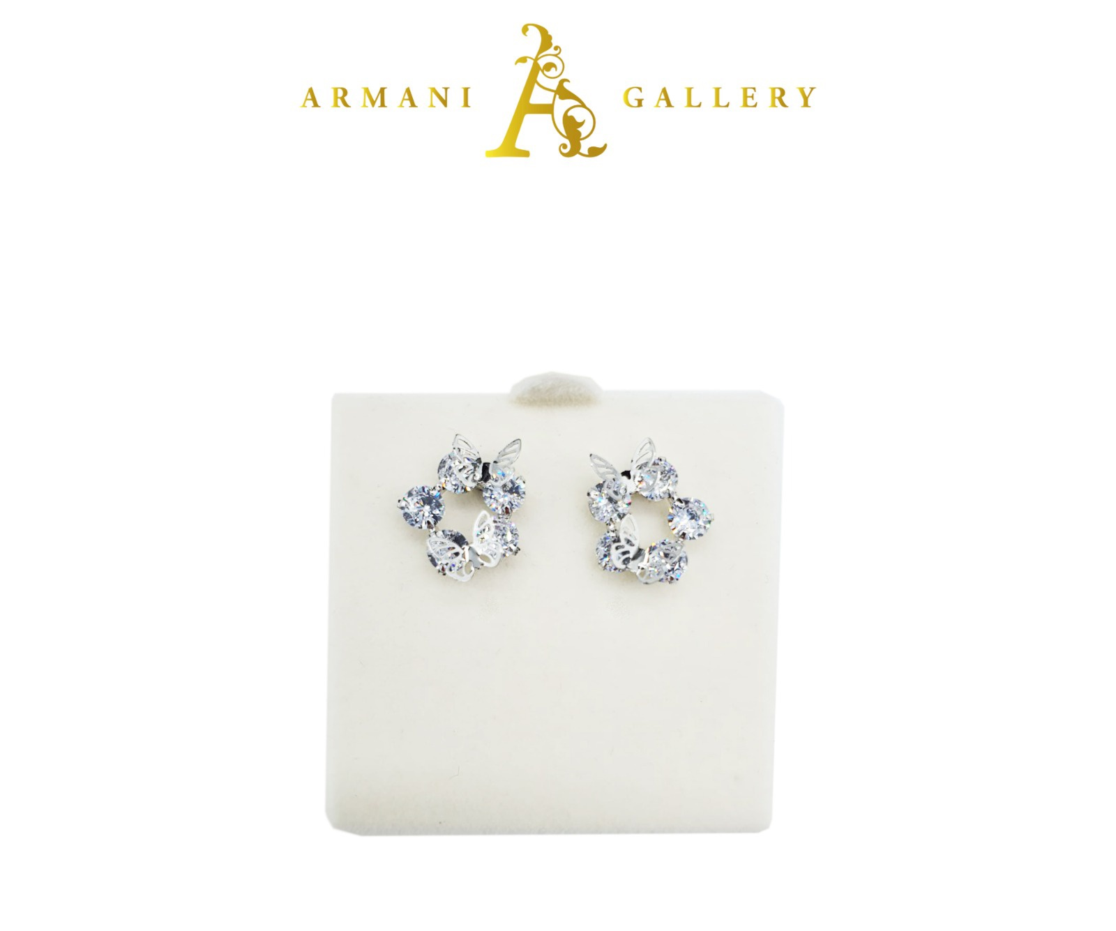 Buy Floral with Diamond Earrings