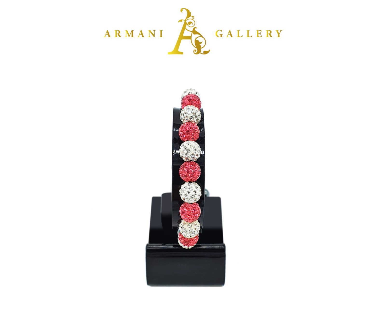 Buy Diamonte Balls Bracelet - Pink & Silver